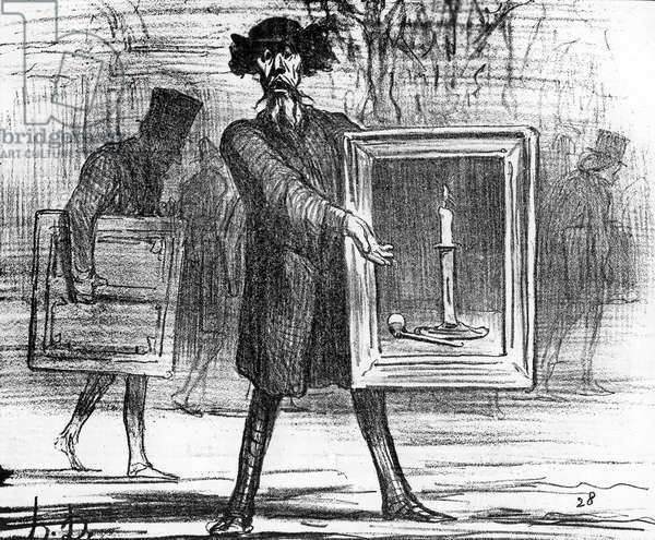 'Ignoramuses.......they have refused this!', caricature from 'Charivari' magazine, 6 April, 1859 (litho)