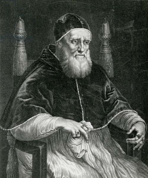 Pope Julius II (1443-1513) (engraving)
