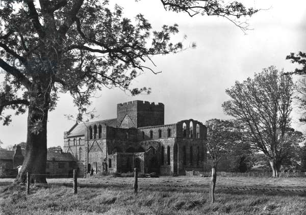 Lanercost Priory from the South East (b/w photo)