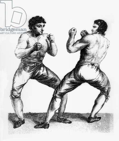 Boxing Match Between Daniel Mendoza and Richard Humphreys, 29th September 1790 (etching)