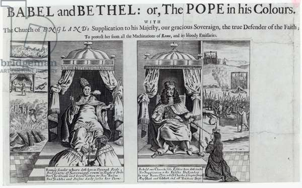 Babel and Bethel: or, the Pope in his Colours, 1679 (engraving)