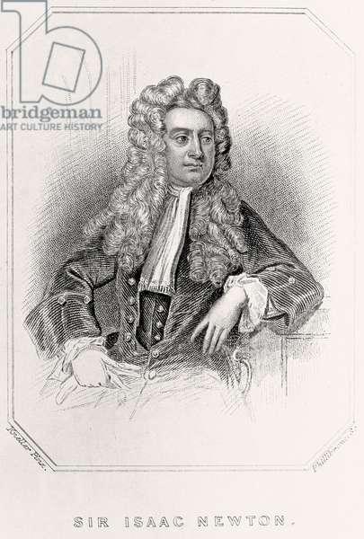Portrait of Sir Isaac Newton, 1835 (litho)