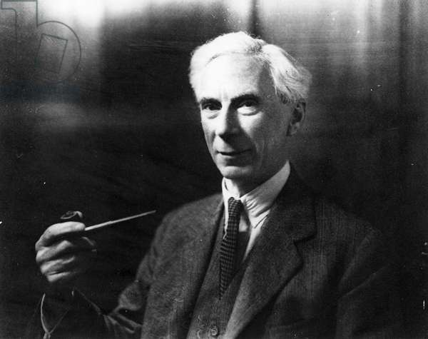 Bertrand Russell (b/w photo)