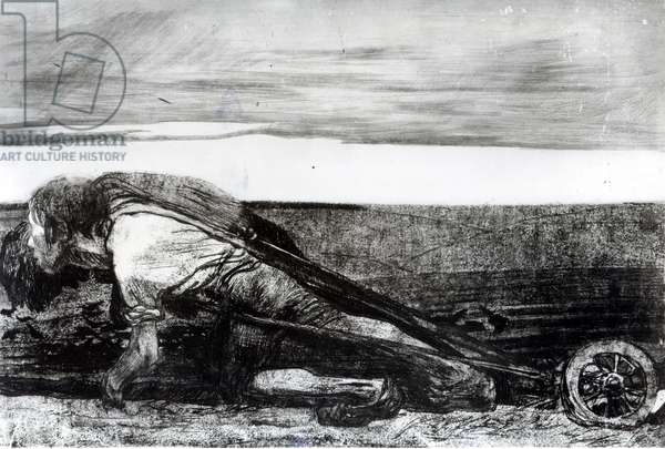 Ploughing, from the series 'The Peasants' Revolt', 1906 (etching, engraving and aquatint) (b/w photo) and aquatint) (b/w photo)