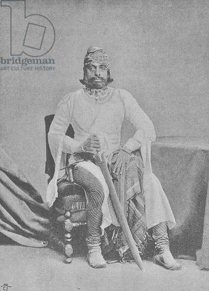 Maharaja Jaswant Singhji II of Jodhpur (engraving)