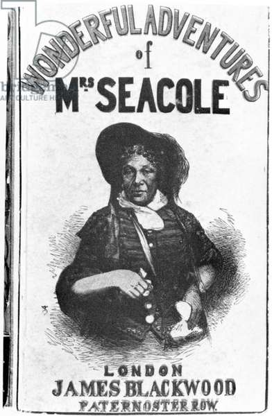 Cover of the first edition of 'The Wonderful Adventures of Mrs Seacole', published by James Blackwood of Paternoster Row, 1857 (engraving) (b/w photo)