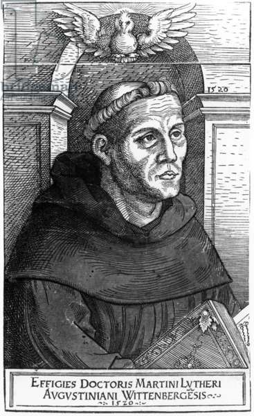 Martin Luther as Augustinian Friar, 1520-24 (woodcut)