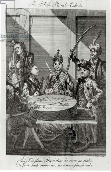 The Polish Plumb Cake, c.1772 (engraving) (b/w photo)