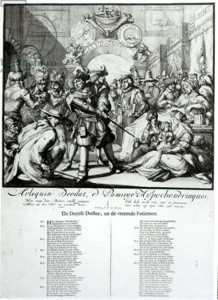 The Warming Pan Baby, c.1688 (engraving)