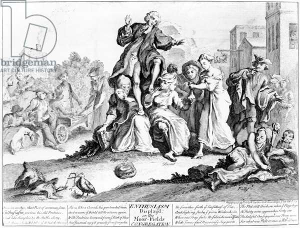 Enthusiasm display'd, or Moor Fields Congregation, 1739 (engraving)