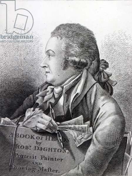 Self Portrait, frontispiece to his 'Book of Heads', 1795 (etching)