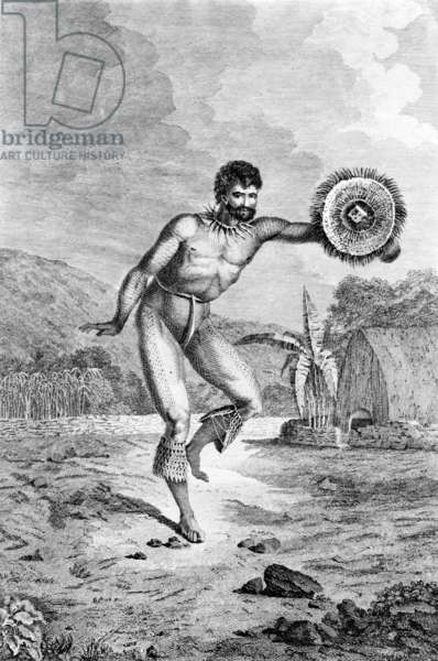 A Man of the Sandwich Islands Dancing, engraved by Myers, c.1785 (engraving)
