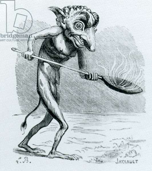 The Ukobach, illustration from the 'Dictionnaire Infernal' by Jacques Albin Simon Collin de Plancy , 1818 (engraving)
