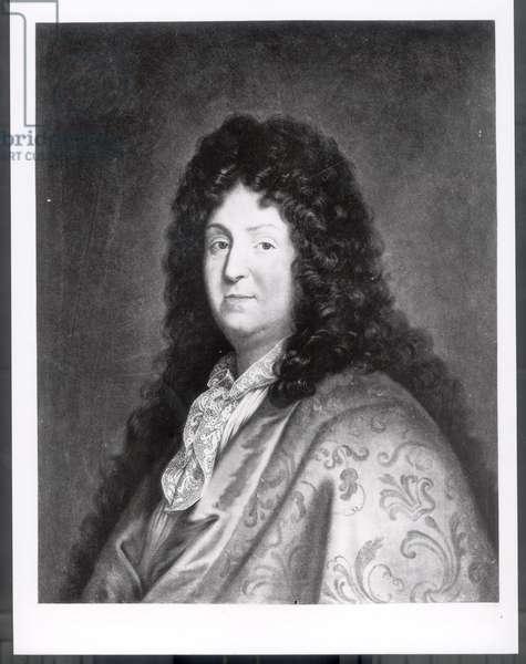 Jean Racine (1639-99) (oil on canvas) (b&w photo)