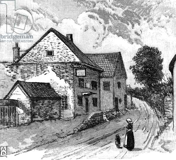 Coleridge's Cottage, Nether Stowey (engraving)