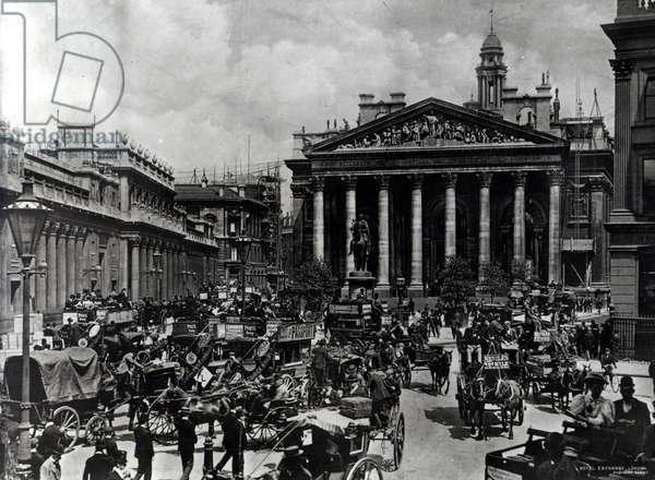 The Royal Exchange, London, c.1900 (b/w photo)