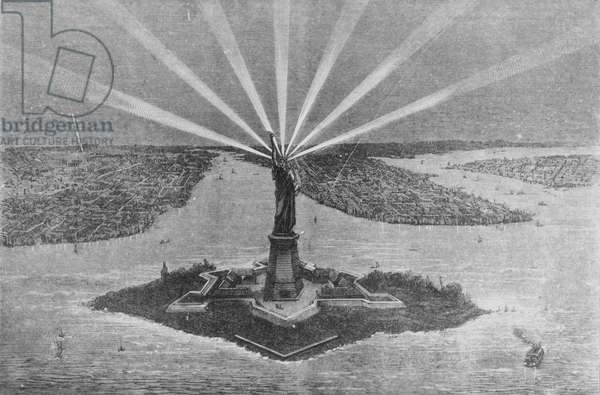 Statue of Liberty, from 'The Graphic', 27th November 1875 (engraving)