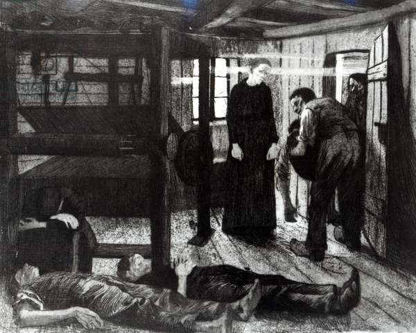 The End, from the series 'The Revolt of the Weavers', 1897 (etching and aquatint) (b/w photo)