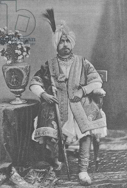 Maharaja Pratap Singhji of Jammu and Kashmir (engraving)