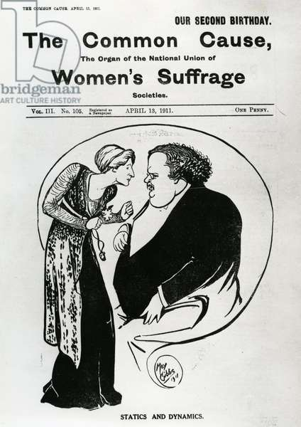 Front page of 'The Common cause', 1911 (litho)