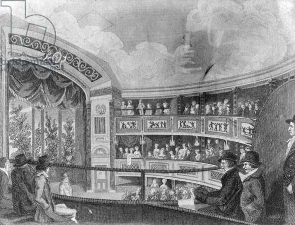 The Interior of the Olympic Theatre near Drury Lane, engraved by Henry Richard Cook, 1816 (engraving)