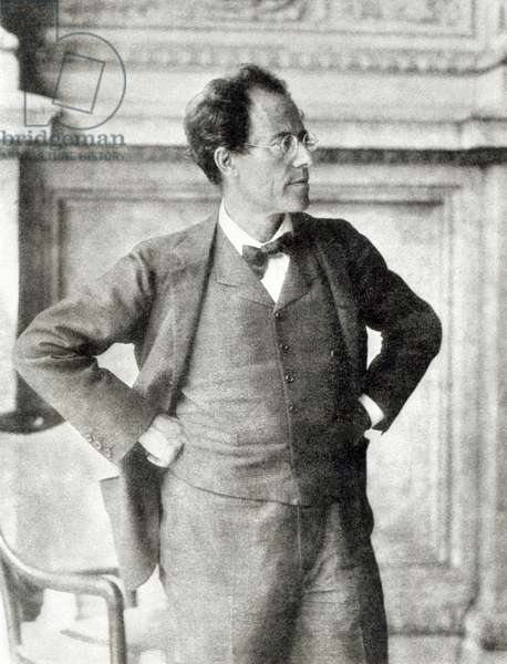 Portrait of Gustav Mahler, 1907 (b/w photo)