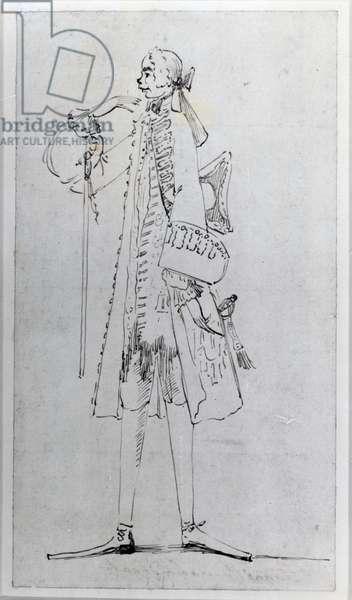 Carlo Maria Broschi, 'Il Farinelli' (ink on paper)