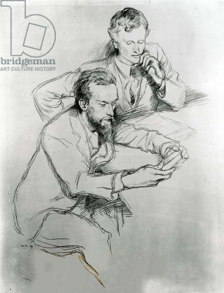 Charles Haslewood Shannon (1863-1937) and Charles Ricketts (1866-1931), 1897 (pen on paper)