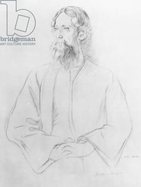 Rabindranath Tagore, 1912 (pencil on paper)
