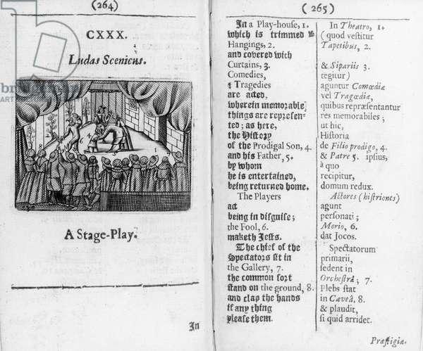 Boys' races from 'Orbis Sensualium Pictus', 1658 (woodcut)