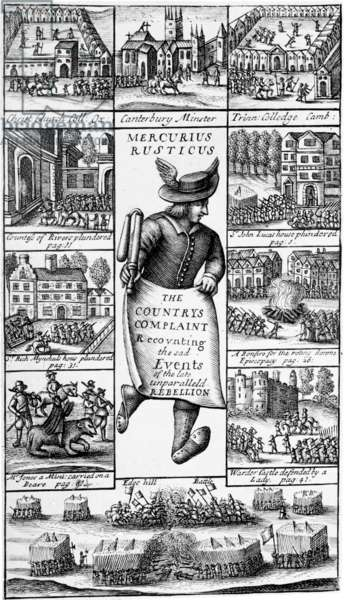 Frontispiece to 'Mercurius Rusticus: The Country's Complaint Recounting the Sad Events of the late Unparalleld Rebellion', published in 1685 (engraving)