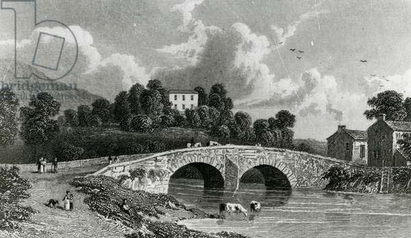 Greta Hall and Keswick Bridge, engraved by E. Francis, 1842 (engraving)