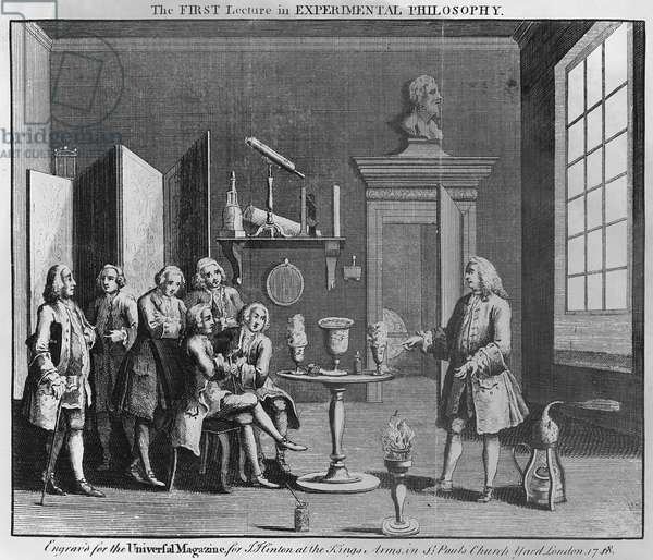 The First Lecture in Experimental Philosophy, engraved for the 'Universal Magazine', 1748 (engraving)