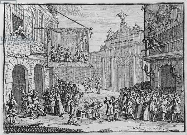 Masquerades and Operas, Burlington Gate, 1724 (engraving)