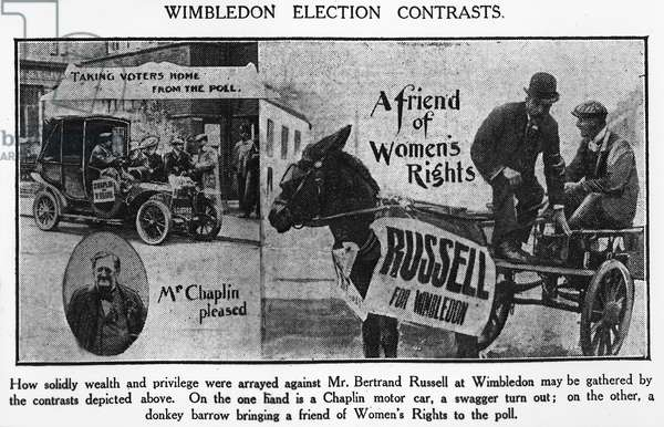 Wimbledon election contrasts, 1907 (b/w photo)