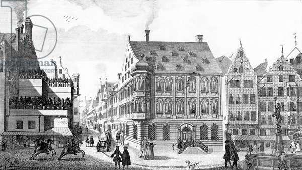 The Jewish District (engraving) (b/w photo)
