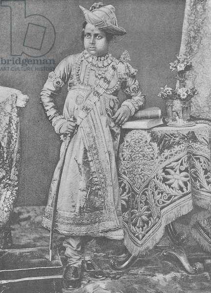 Maharaja Madho Rao Scindia of Gwalior (engraving)