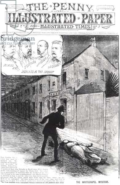The Whitechapel Mystery, from 'The Penny Illustrated Paper', 8th September 1888 (engraving) (b&w photo)