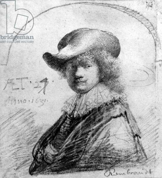 Self Portrait, c.1633 (etching)
