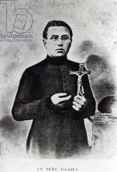 Father Damien (b/w photo)