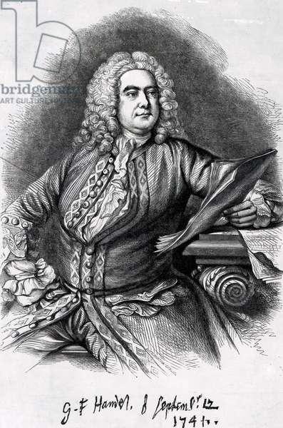 George Frederick Handel, 1749 (mezzotint)