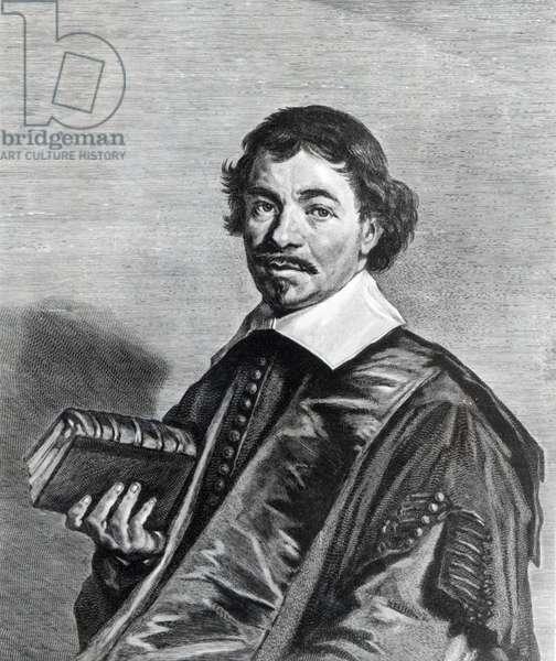 Johannes Hoornbeek, engraved by Jonas Suyderhoef (engraving) (b/w photo)