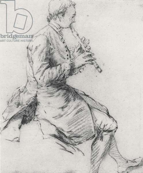The Recorder Player (pencil on paper)