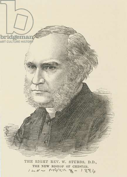 The Right Reverend William Stubbs, 1884 (engraving)