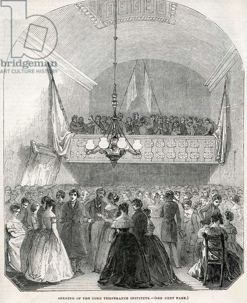 Opening of the Cork Temperance Institute, 1845 (engraving)