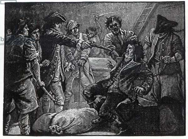 The Capture of Wolfe Tone in 1798 (engraving)