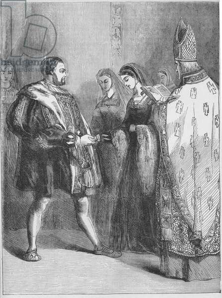 Marriage of Henry VIII and Catherine Parr (print)