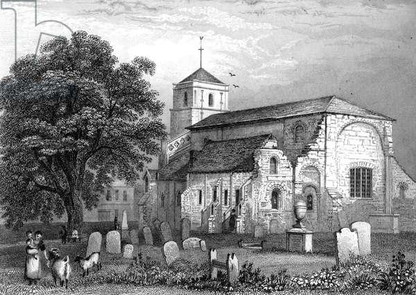 Waltham Abbey Church, Essex, engraved by John Rogers, 1831 (engraving)