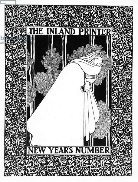 Cover of 'The Inland Printer', c.1895 (litho)