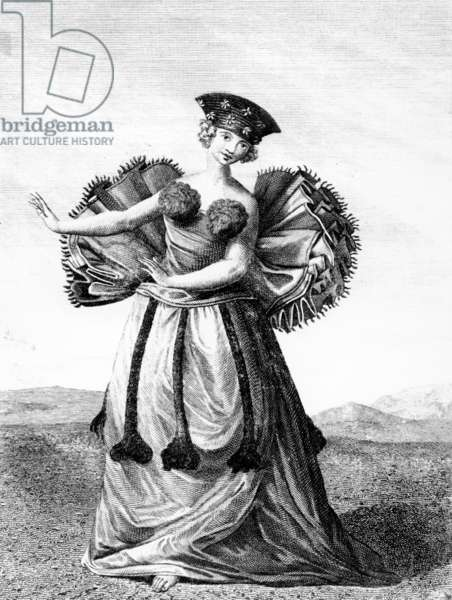 Habit of a Young Woman of Otaheite Dancing, c.1785 (engraving)